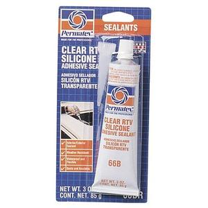 Permatex 80050 Clear Silicone 3 oz Tube