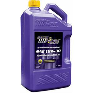 Royal Purple Synthetic SAE 10W-30 High Performance Motor Oil 5 Quarts